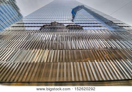 New York City - November 20 2011: 7 World Trade Center exterior view.