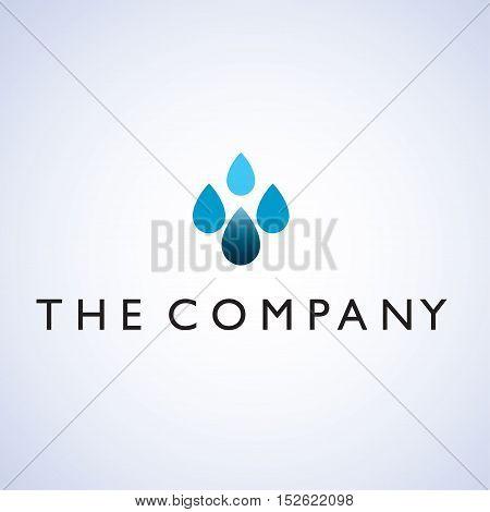 raindrop ideas design vector illustration on background