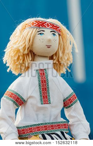 Doll Boy. Classic National Costume Belarus.