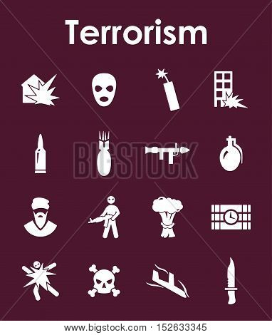 It is a set of terrorism simple web icons