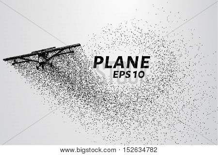The plane of the particles. The plane of agricultural equipment until. Plane breaks down into molecules.