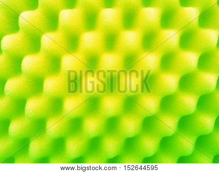 close up soft green sponge texture background