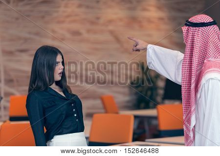 Woman Office Worker Gets Fired By Arab Businessman