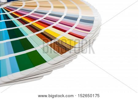 Color palette ( pantone ) on white background