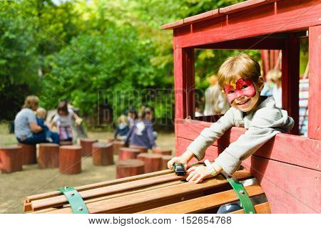 Boy On The Playground