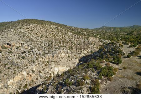 Peristerona Gorge above Polis Cyprus Also known as Gorge of the Eagles and Atichoulli Gorge