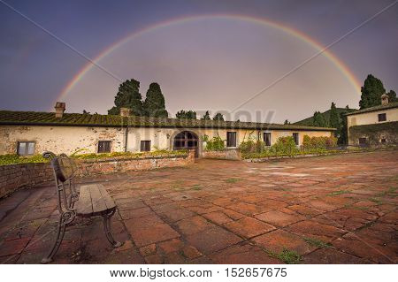 Italy, Tuscany, Pisa, Castello Ginori Di Querceto