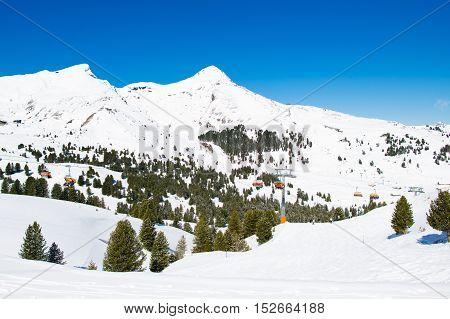 Alpine Ski Facility In Swiss Alps