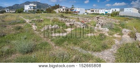 Situated at the area Katovigli in Makrygialos this 3 acres villa is one of the greatest archaeological finds in Eastern Crete.