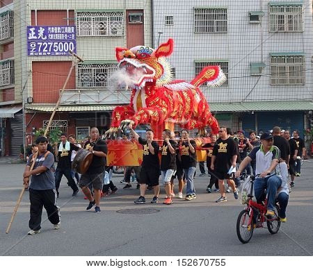The Fire Lion Procession In Southern Taiwan