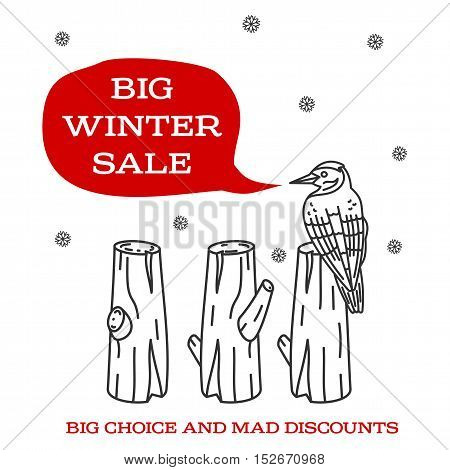 Winter Sale Sticker