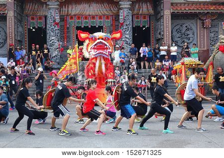 Religious Martial Arts Performance In Taiwan