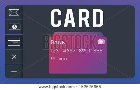 Debit Card Payment Account Graphic Concept