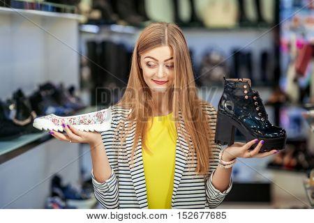Woman making choice