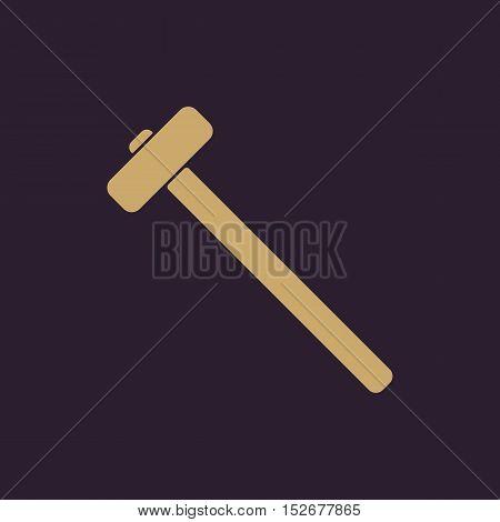The sledgehammer icon. Sledgehammer symbol. Flat Vector illustration