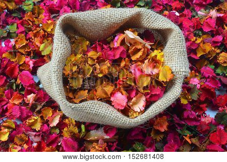 close up colorful of potpourri with candles