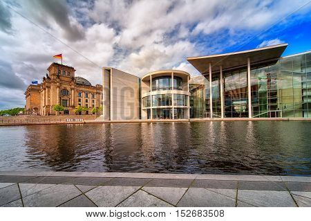 Old And New Bundestag Buildings, Berlin, Germany