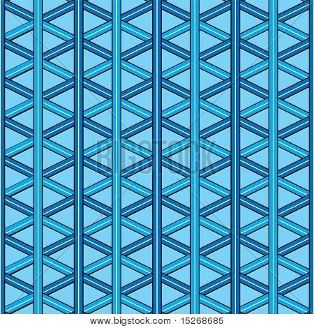 An inter linking design in blue that repeats without seams