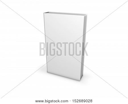Tall Book With Blank Hardcover 3D Illustration.