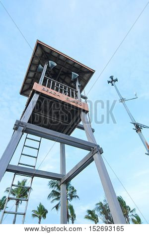 Life Guard tower in Rayong Province, Thailand