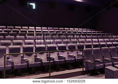 New Purple Movie Theater Seats