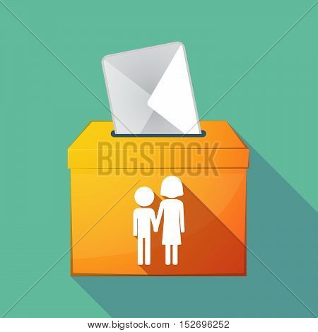Long Shadow Ballot Box With A Childhood Pictogram