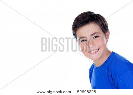 Adorable boy isolated on a white background