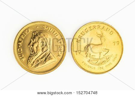 1 Oz Gold Coin - One  Krugerrand Gold  Coin
