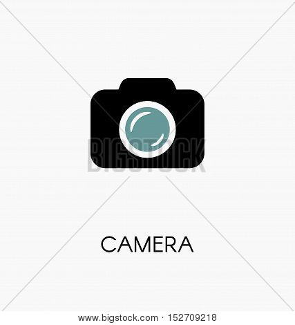Camera / Photocamera Icon Simple Flat Vector Illustration