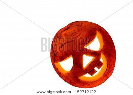 Fruit Halloween. for Halloween celebration on white background