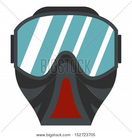 Paintball mask icon. Flat illustration of paintball mask vector icon for web design
