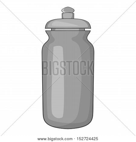 Flask for water icon. Gray monochrome illustration of flask for water vector icon for web