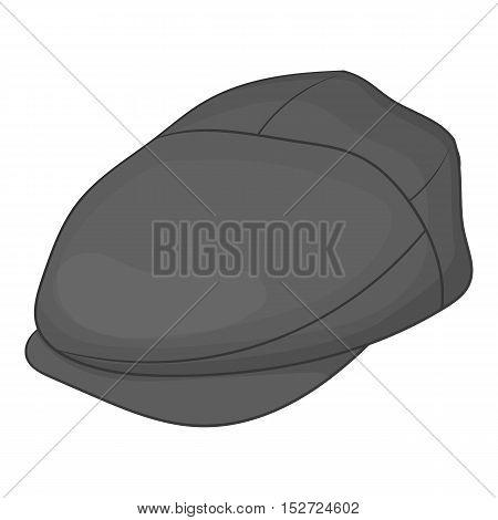 Cap driver icon. Gray monochrome illustration of cap driver vector icon for web
