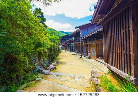 Traditional Japanese Wooden Rural Houses Tsumago H
