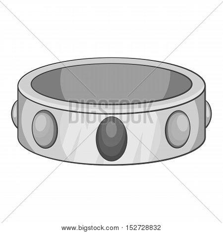 Gemstone bracelet icon. Gray monochrome illustration of gemstone bracelet vector icon for web