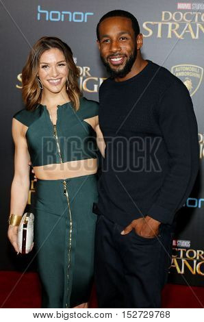 Stephen 'Twitch' Boss and Allison Holker at the World premiere of 'Doctor Strange' held at the El Capitan Theatre in Hollywood, USA on October 20, 2016.