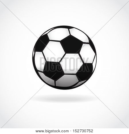 Football ball icon. Soccer ball symbol. Foot ball isolated on white. Vector sport illustration.