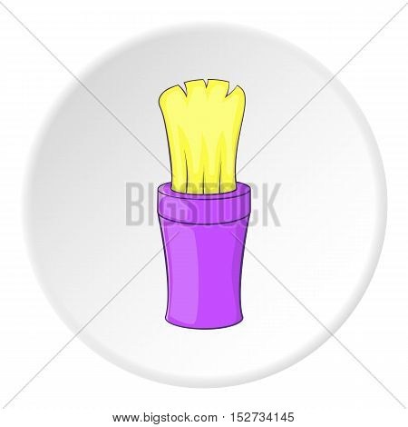 Shaving brush icon. Cartoon illustration of shaving brush vector icon for web
