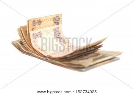 Indian Currency Rupee bank notes isolated on white background