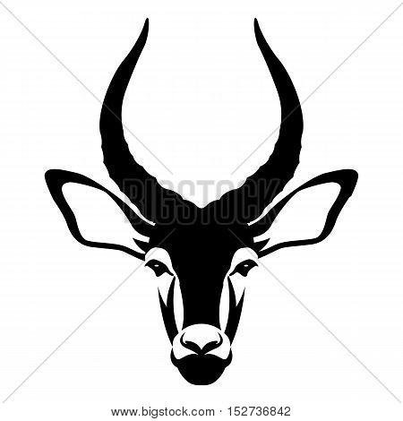 impala buck head face vector illustration style Flat