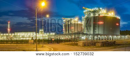 The LNG terminal in Swinoujscie, Liquefied Natural Gas (LNG) storage tanks, Poland