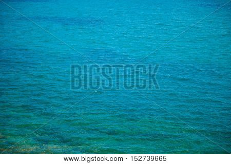 Blue and green ocean close up stock picture