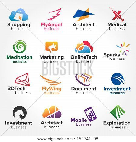 Business Logo collection vol.3 Abstract Geometric Shape icon set