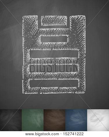 assignment icon. Hand drawn vector illustration. Chalkboard Design