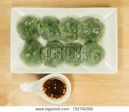 Steamed Dumpling stuffed with Garlic Chives and Taro and bamboo shoot Allium Tuberosum pastry steaming Chinese Chive Dumpling Chinese leek steamed dessert Garlic Chive Dumpling garlic chives dim sum Kuicheai steamed bread