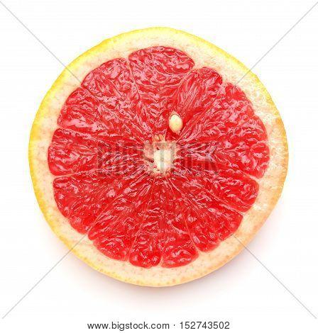Grapefruit isolated on white background. Flat. Red.