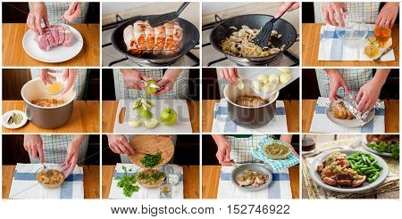A Step By Step Collage Of Making Slow Cooked Pork