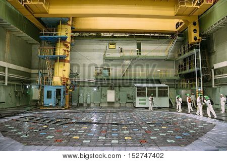 Inside the reactor of nuclear power plant, Press tour to Kursk Nuclear power plant, 06.23.2016