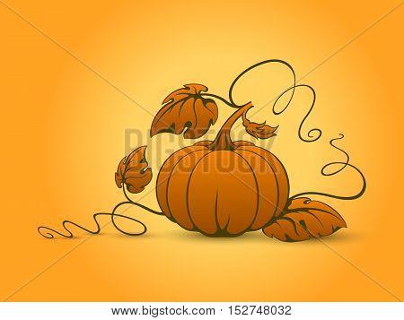 Vector Red Pumpkin.