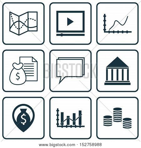 Set Of 9 Universal Editable Icons For Airport, Project Management And Statistics Topics. Includes Ic